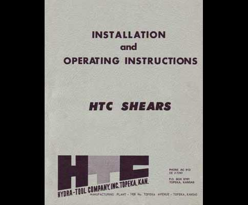 Hydra Tool Company Htc 14 To 34 Inch Shears Manual Industrial Library