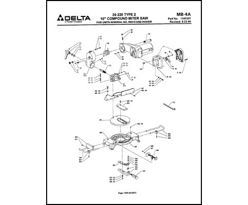 10 Inch Delta Table Saw Parts Table Design Ideas