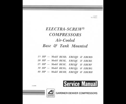 gardner denver electra screw air compressor service manual gardner denver electra screw air compressor service manual