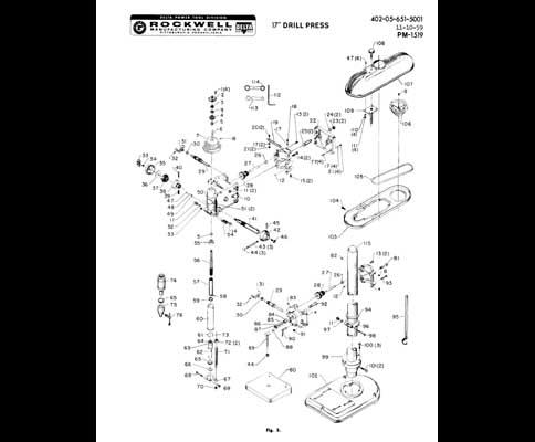 Dayton Drill Press Parts Manual Reviewmotors Co